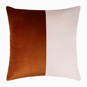 Double Optical Brick Red Cushion Cover by Lorenza Briola