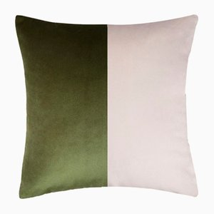 Double Optical Green Cushion Cover by Lorenza Briola