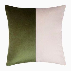 Double Optical Green Cushion Cover by Lorenza Briola