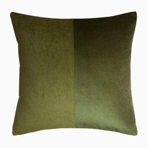 Funda de cojín doble de terciopelo verde de Lorenza Briola