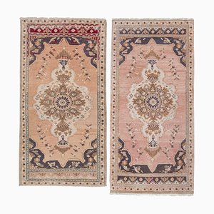 Small Turkish Low Pile Oushak Carpets, 1970s, Set of 2