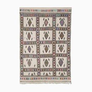 Decorative Embroidered Kilim Carpet, 1970s