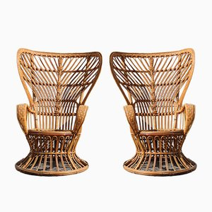Large Italian Lounge Chairs by Lio Carminati, 1950s, Set of 2