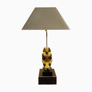 Hollywood Regency Pharaoh Tischlampe, 1970er