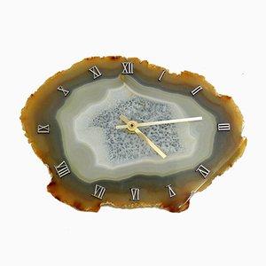 Mid-Century Agate Wall Clock