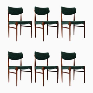 Danish Rosewood Side Chairs, 1960s, Set of 6