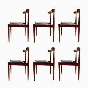 Bubinga Model 500 Dining Chairs by Alfred Hendrickx for Belform, 1960s, Set of 6