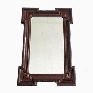 Large Gründerzeit Wall Mirror in Wooden Frame, 1800s