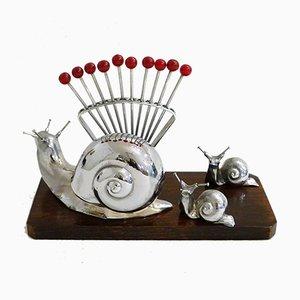 Vintage Art Deco Snails Tableware Set