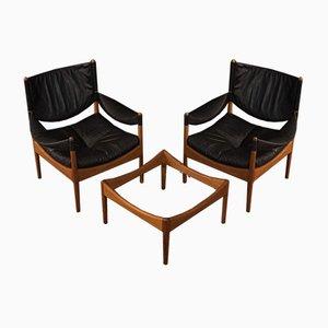 Wohnzimmer Set von Kristian Vedel für Søren Willadsen Møbelfabrik, 1963, 3er Set