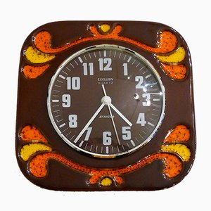 Ceramic Wall Clock from Staiger, 1970s
