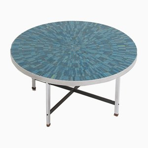 Azure Ceramic Coffee Table, 1960s