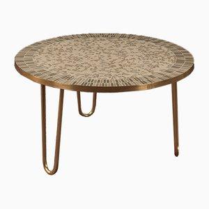 Tavolino da caffè con mosaico di Berthold Müller-Oerlinghausen, anni '50