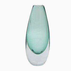 Mid-Century Scandinavian Sommerso Azure Glass Vase, 1950s