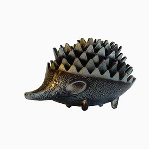 Modernist Hedgehog Ashtrays, 1950s, Set of 5