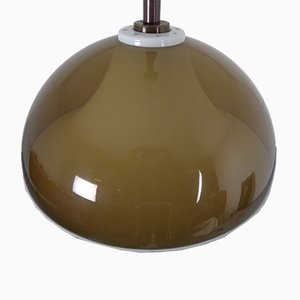 Ceiling Lamp in Brown & White Plastic from Stilux Milano, 1960s