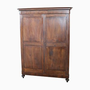 Antique Solid Walnut Wardrobe, 1820s