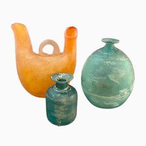 Vases Scavo en Verre Murano par Gino Cenedese pour Cenedese, Italie, 1960s, Set de 3