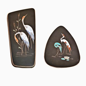 Heron Wall Plates by Kiechle Arno for Ruscha, 1950s, Set of 2