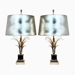 Pineapple Leaf Table Lamps from Boulanger, 1970s, Set of 2