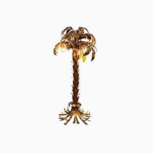 Vergoldete Palmen Stehlampe im Hollywood Regency Stil von Hans Kögl, 1960er