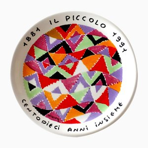 Italian Ceramic Plate by Missoni, 1980s