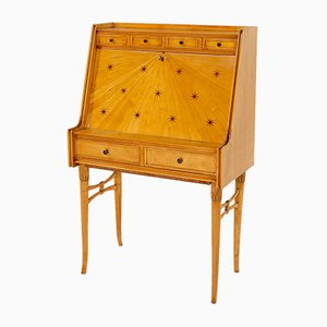 Mid-Century Maple and Brass Secretaire by Paolo Buffa
