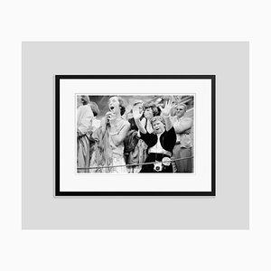 Hysterical Elvis Fans, Archival Pigment Print Framed in Black by Phillip Harrington