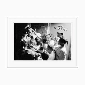 Touching the King, Pigment Print Framed in White by Phillip Harrington