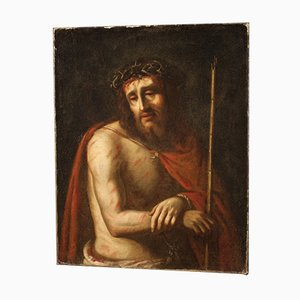 Antique Ecce Homo Painting, 18th Century