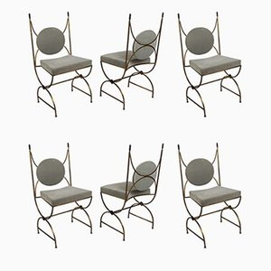 Dining Chairs by Robert Thibier for Thibier, 1960s, Set of 6