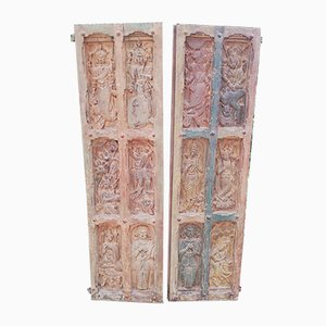 Vintage Indian Room Dividers, Set of 2