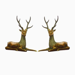 Brass Deer, Set of 2