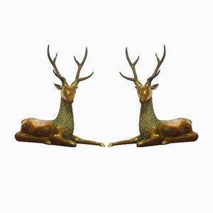 Deer in ottone, set di 2