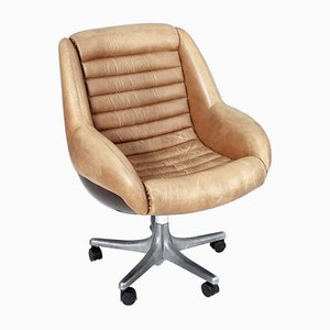 Italian Leather Swivel Chair by Cesare Casati for Arflex, 1960s