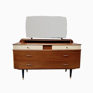 Dressing Table with Drawers & Mirror, 1960s