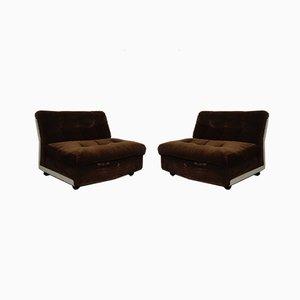 Amanta Modular Lounge Chairs by Mario Bellini for B&B Italia, 1960s, Set of 2