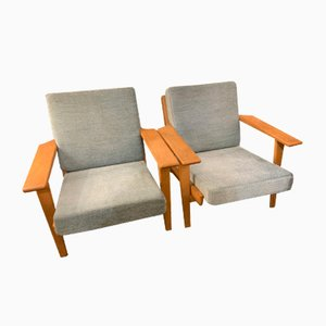 Lounge Chairs by Hans J. Wegner, 1950s, Set of 2