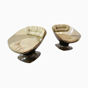 French Armchairs by Raphael Raffel, 1960s, Set of 2