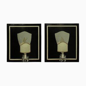 Italienische Wandlampen, 1940er, 2er Set