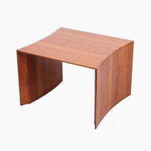 Belgian Cherry Wood Side Table by Konraad de Wulf, 1970s