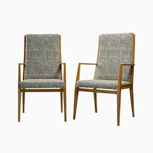 Beech Occasional Chairs, 1950s, Italy, Set of 2