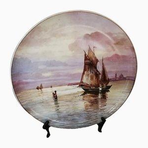 Vintage Ceramic Plate from Verbanum Stone Laveno