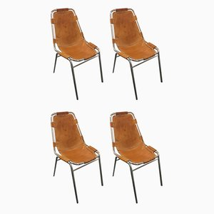 Les Arcs Dining Chairs by Charlotte Perriand, 1950s, Set of 4