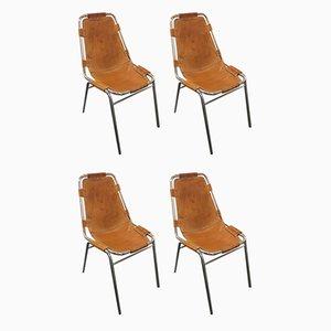 Les Arcs Esszimmerstühle von Charlotte Perriand, 1950er, 4er Set
