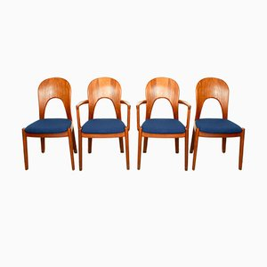 Solid Teak Morten Dining Chairs by Niels Koefoed for Koefoeds Hornslet, 1960s, Set of 4