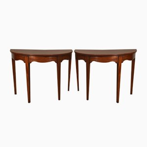 Georgian Solid Mahogany Console Tables, 1790s, Set of 2