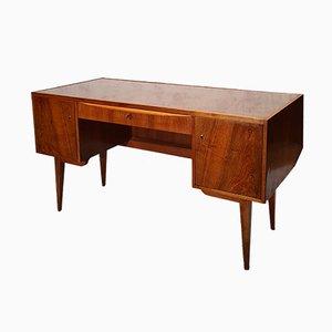 Bauhaus Walnut Desk by Franz Ehrlich for VEB Deutsche Werkstätten Hellerau, 1950s