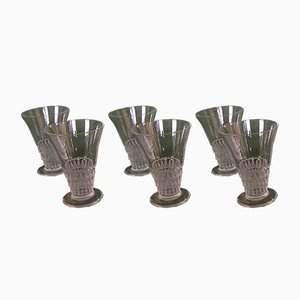 Art Deco Glasses from Lalique, 1920s, Set of 6