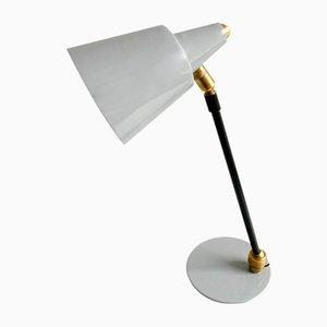Italian Light Blue Table Lamp, 1950s